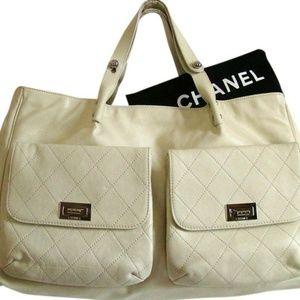 NWT Chanel XL Mademoiselle Caviar Leather Tote Bag